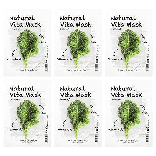 Too Cool For School [6 masques] Masque Vita Naturel - raffermissant [Vitamine A, Kale] 23 ml