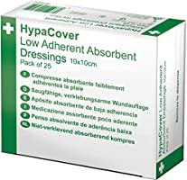 HypaCover Low Adherent Absorbent Wound Dressing 10 x 10 cm (Pack of 25)