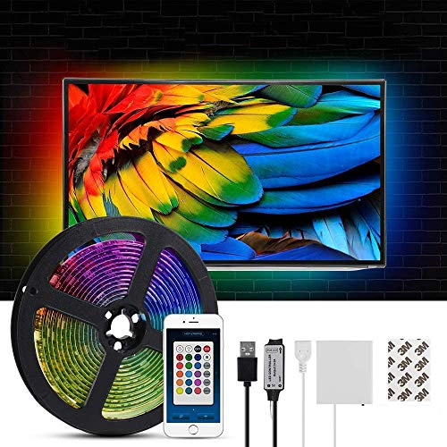 Tira de luz LED 3m Cambio de color Caja de batería USB Decoración de jardín Fondo de TV, barra de publicidad, luces de camping, tiras de luz de chasis de computadora