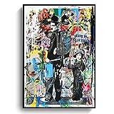 LDTSWES Rompecabezas de Rompecabezas de Pinturas de Arte Callejero, de Madera El Rey de la Comedia Chaplin Puzzle de 1000 Piezas, para Adultos/niños/niños/Rompecabezas de Estudiantes