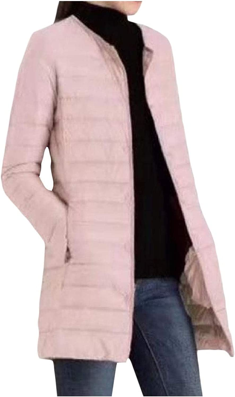 Bamyo Womens Winter Silm Fit MidLong Ultra Light Weight Outwear Puffer Down Coat