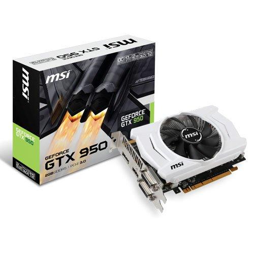 MSI - GTX 950 GAMING 2G NVIDIA - Tarjeta gráfica GeForce GTX 950 (2 GB ddr5 sdram, 6610 MHz)