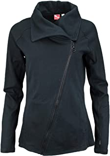 PUMA Womens French Terry Zip-Up Jacket Athletic Outerwear Jacket,