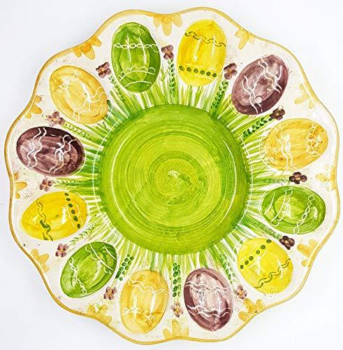 Farfalla Ceramica Decorata a mano Le Ceramiche del Castello Nina Palomba Made in Italy Dimensioni 11 x 10 centimetri