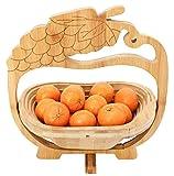 GMMH–Cestino Pieghevole bambù Cesto di Frutta Frutta Ciotola Decorativa Ciotola UVA Design. (ca. 30cm x 30cm. Altezza 30cm)