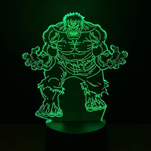 sanzangtang LED Night Light 3D-Vision-Seven Colors-Remote Control-Cartoon Character Movie Character Light Décoration de la Maison Ampoule Couleur Éclairage Enfants Cadeau Chambre Night Light