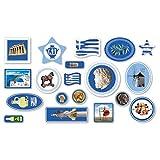 XXL-Großkonfetti * GRIECHENLAND * mit 57 großen Konfetti-Teilen für eine Motto-Party oder Länder-Party // Greece Athen Kinder Kindergeburtstag Deko Motto