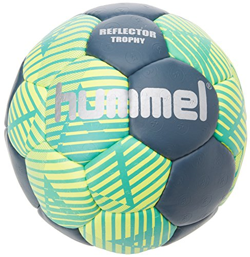 Hummel Erwachsene Reflector Trophy HB Handball, grün (Ceramic Blue/Safety Yellow), 3