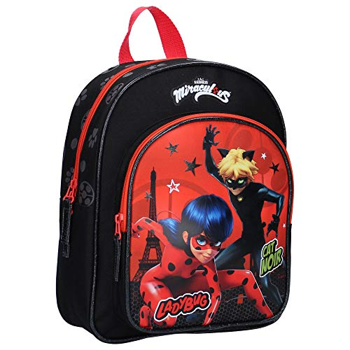Miraculous Kinderrucksack - Ladybug und Cat Noir - Rot und Schwarz