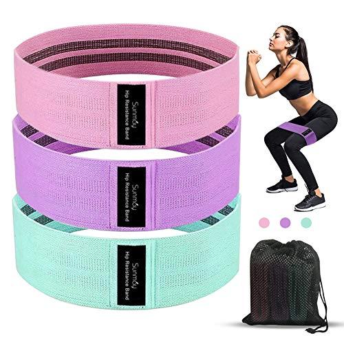 Sunmay Fitnessbänder Widerstandsbänder, 3 Stück Trainingsbänder für Hüften, Gesäß, Krafttraining, Muskelaufbau Fitness Bänder für Training zu Hause