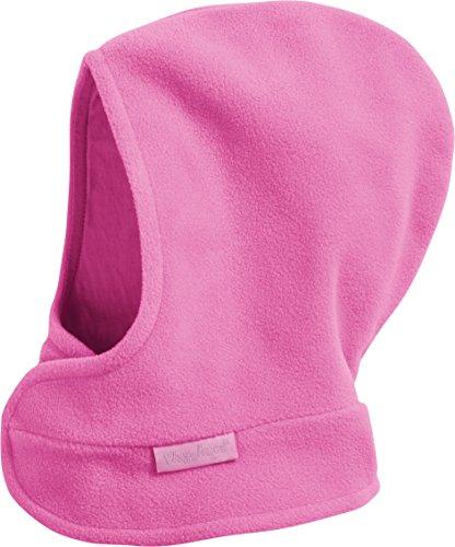Playshoes Kinder Schalmütze aus Fleece Klettverschluß softe und atmungsaktive Schlupfmütze, pink, 47/49cm