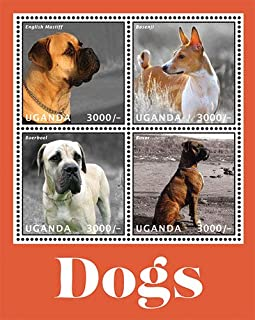 2013 Dogs, English Mastiff & Others, Collectible Sheet of 4 Stamps, Mint Never Hinged