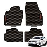 GOINUS Alfombrillas Alfombra de Látex para Volkswagen VW Polo 2011-2020, Aptas para Todas Las Condiciones Climáticas, Alfombra de tapetes de Piso de Cubierta Completa 3D