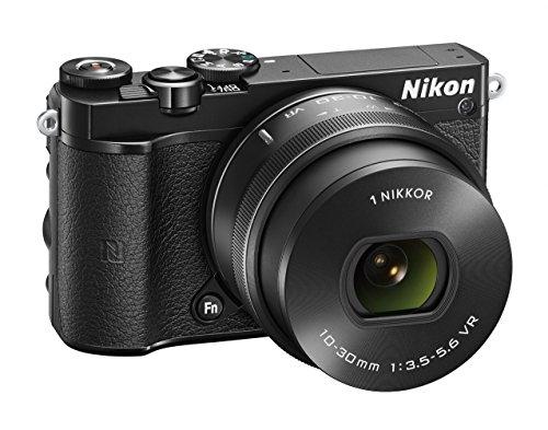 Nikon 1 J5 + 1 Nikkor 10-30 mm VR PD-ZOOM Fotocamera Digitale ad Ottiche Intercambiabili, 20,8 Megapixel, Video 4K, LCD Touchscreen Basculante 3 , Nero [Versione EU]