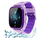 Beacon Pet Kids Smartwatch, 4G WiFi GPS LBS Tracker SOS Emergency Call Video Chat Children Smartwatches, IP67 Waterproof Phone Watch for Boys Girls, Compatible with Android/iPhone iOS (Purple)