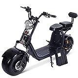 SJAPEX Harley Trottinettes électrique pour Adulte, Voiture électrique Scooter Deux Roues Large,60V...
