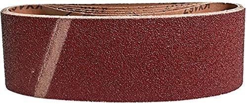 10 Stück Gewebe-Schleifbänder 75 x 457 - für Bandschleifer | Korn 80 | Schleifpapier | Schleifbänder