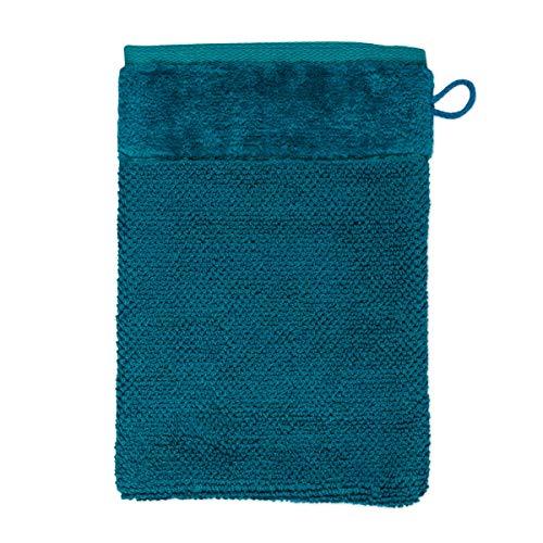 MÖVE Bamboo Luxe Gant de Toilette 15 x 20 cm, Fabriqué en Allemagne, 60% coton / 40% viscose en pulpe de bambou, Deep Lake (Bleu)
