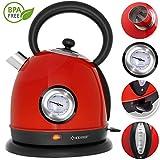 KESSER Wasserkocher Edelstahl | 2200W | BPA frei | 1,8 Liter | Retro Design | Überhitzungsschutz |...
