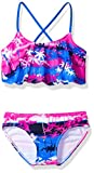 Kanu Surf Girls' Alania Flounce Bikini Beach Sport 2 Piece Swimsuit, Alice Blue, 14