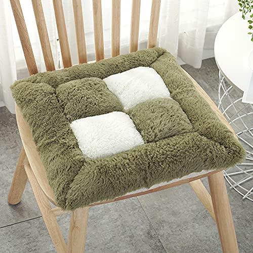 MOTT - Cuscino quadrato di lusso per sedia da pranzo, in morbido peluche, con laccetti, antiscivolo, per sedia da ufficio, poltrona, sedia a rotelle
