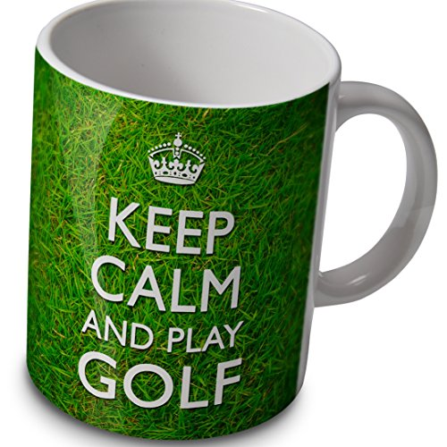 verytea Fun Tasse/Kaffeebecher Keep Calm and Play Golf