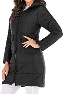 Womens Slim Fit Long Sleeve Packable Jacket Lightweight Mid Length Down Quilted Jacket