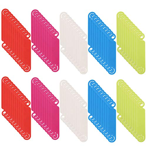 hugttt 100 Stück Kabel-Etiketten Kabel-Management-Etiketten mehrfarbig Kabel-Etiketten schreiben auf Kabel Identifikations-Etiketten für Zuhause und Büro USB Computer Telefon Ladegerät