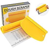DoGeek 2-in-1 Stainless Steel Dough Pastry Scraper