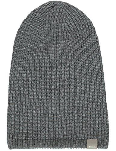 Bench Herren Monocracy Strickmütze, Grau (Dark Grey GY149), One Size (Herstellergröße: -)