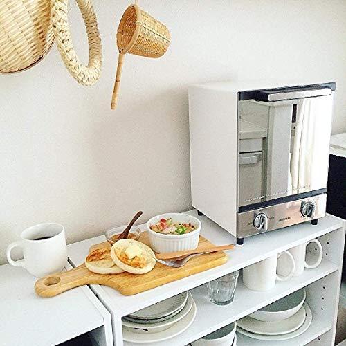 アイリスオーヤマ オーブントースター トースト2枚 ミラー調 縦型 MOT-012