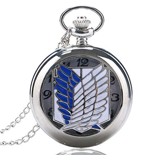 Unico orologio da tasca, Attack on Titan Scouting legion Survey Corps Cosplay da tasca per gli uomini donne, orologio da tasca regalo