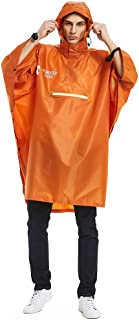 iFOMO Men's Rain Poncho Hooded Raincoat for Camping & Hiking