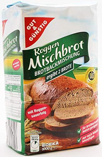 Gut und Günstig Roggen Mischbrot Brotbackmischung, 10er Pack (10 x 1 kg)