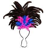 WIDMANN 66015 – Diadema de plumas Copacabana, accesorio para la cabeza, fiesta temática, carnaval, multicolor