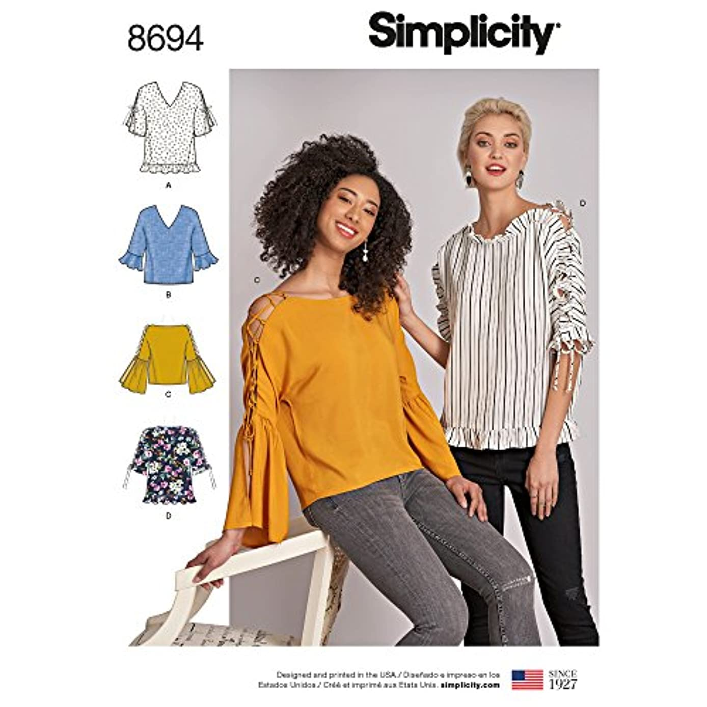 Simplicity Creative Patterns US8694D5 Pattern 8694 Misses Tops