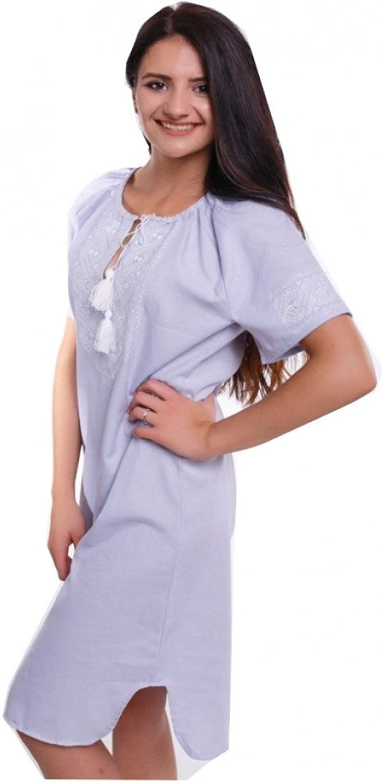 Ukrainian Embroidered Mini dress Joyful Youth  white vyshyvanka
