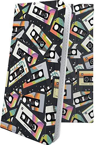 スマートフォンケース・P9 lite・互換 ケース 手帳型 音楽 音符 楽器 カセットテープ ハート love kiss キス 唇 ファーウェイ ライト・互換 ケース 手帳型スマートフォンケース・クラシック モノトーン classic P9lite ユニーク おもしろ おもしろケース [1dw18302XaJ]