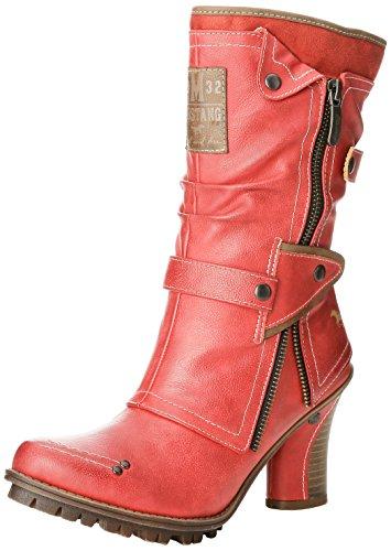 Mustang Damen 1141-606-5 Kurzschaft Stiefel, Rot (5 rot), 39 EU
