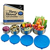 Stainless Steel Food Storage Containers by Home & Harvest (Set of 4 with...
