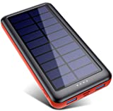 Solar Power Bank 26800mAh, QTshine【2020 Newest Solar Charger】Portable Charger External Backup Battery Pack