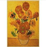 CAPTIVATE HEART Arte de la Lona Pintura 40x60cm sin Marco Serie Van Gogh Cartel Retro Arte Abstracto Moderno Pintura al óleo Bar cafetería Pared Decorativa
