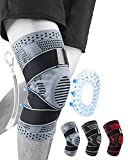 Knee Support for Running - Professional Knee Brace, Adjustable Compression Knee Support for Men Women, Non Slip Knee Supports for Joint Pain Woman, Knee Supports for Joint Pain