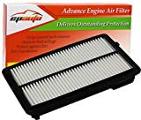 EPAuto GP477 (CA11477) Replacement for Honda/Acura Extra Guard Rigid Panel Air Filter for Accord V6 (2013-2017), TLX V6 (2015-2019)