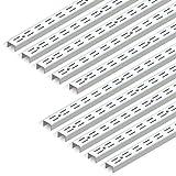 Longitud: 250 mm blanco Toolerando Escuadra de estante para perfil cremallera perforaci/ón simple//Soporte de estantes para rieles de pared 1 gancho//Cartela simple