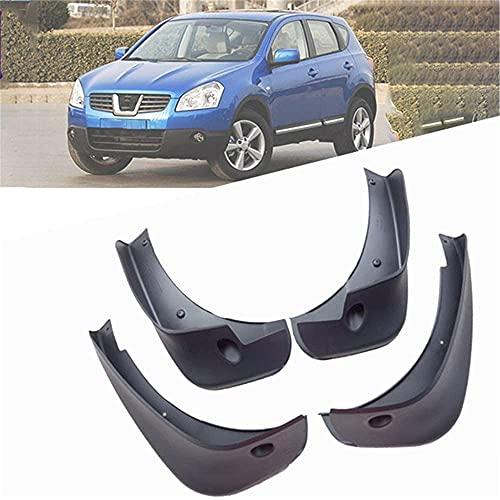 4pcs Coche Faldillas Antibarro para Nissan Qashqai 2006-2019, Delantero Trasero Salpicaduras Mud Flaps Resistentes Desgaste Protección Accessories