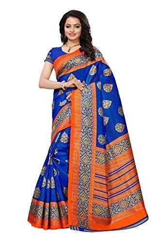 Indianstore24 Indische Bollywood Hochzeit Saree indische ethnische Hochzeit Sari Neue Kleid Damen lässig Tuch Geburtstag Ernte Top Mädchen Frauen schlicht traditionelle Party Wear Readymade Kostüm (blue)