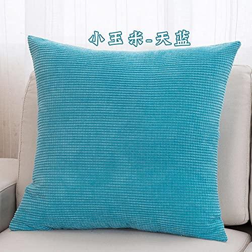 guanciali, cuscino ideale per tutti i letti, offerta, confortevole -Cielo blu_45 * 45 cm.