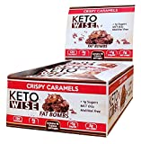 Keto Wise Fat Bombs Crispy Caramel, 16Count Box, 18 Ounce , Crispy Caramels, 18 Ounce