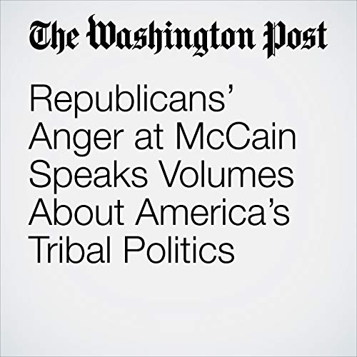 Republicans' Anger at McCain Speaks Volumes About America's Tribal Politics audiobook cover art